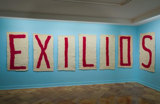 Nury González, Exilios, 2012, fieltro manual, dimensiones variables. Cortesía: D21