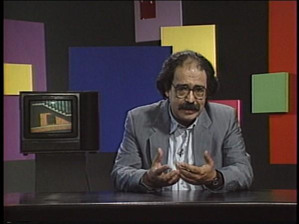 En Torno al video, programa de televisión, UCV TV / Canal 11 TV, 1984-1990. Cortesía de Carlos Flores / Centro de Documentación de las Artes Visuales, Centro Cultural Palacio La Moneda