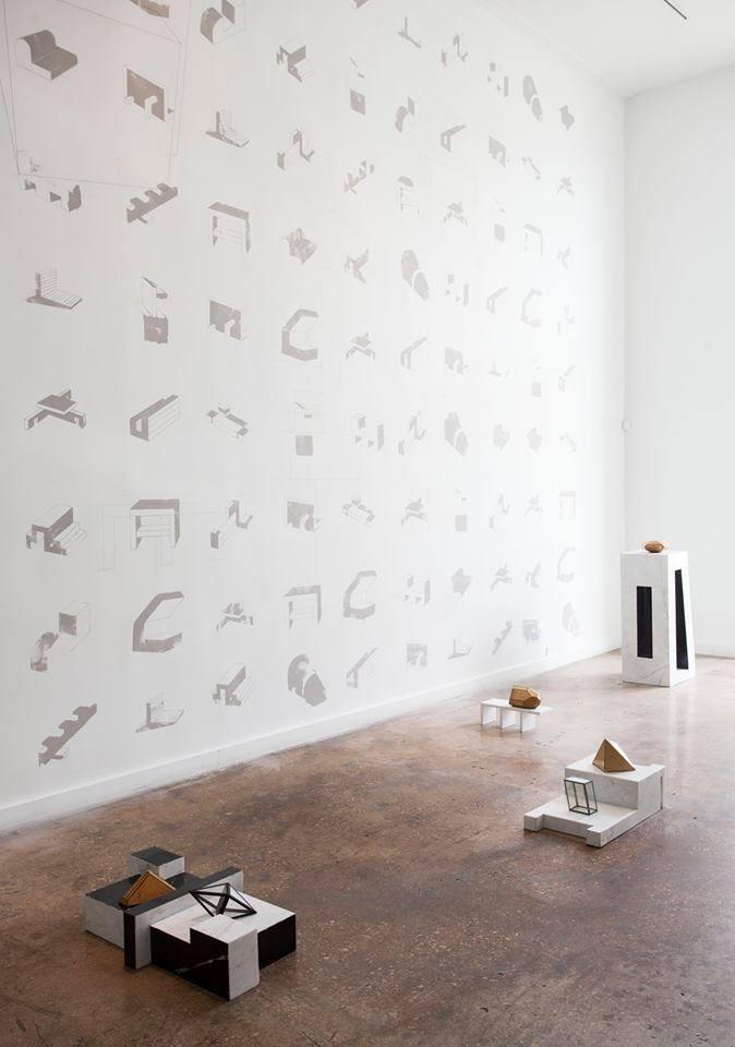 Carlos-Garaicoa.-Arquitectura-del-Desarraigo.-Mármol-cartón-serigrafía-y-dibujo-en-hilo-sobre-pared.-Fundación-Saludarte.-Miami-20141004