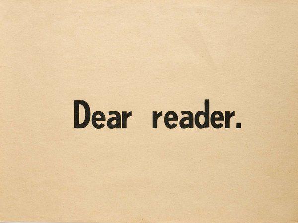 Querido lector, no lea, de Ulises Carrión.