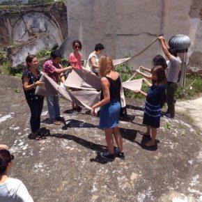ENTRE EL GREEN CUBE Y EL DIRTY CUBE. FELIPE MUJICA Y JOHANNA UNZUETA EN GUATEMALA