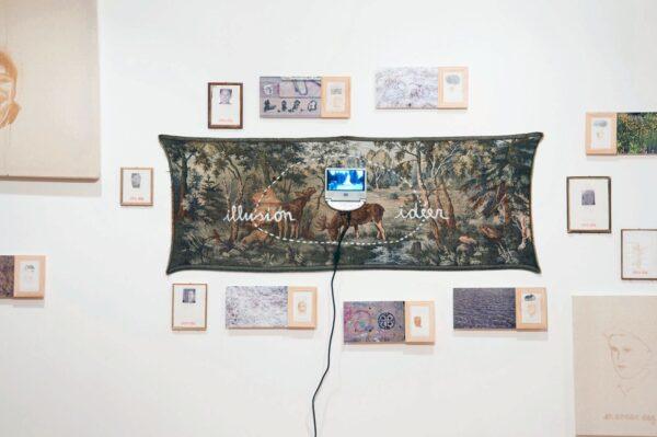 Vista de la muestra Otro Día, de Juan Castillo, en el Museo de la Solidaridad Salvador Allende (MSSA), Santiago, 2012