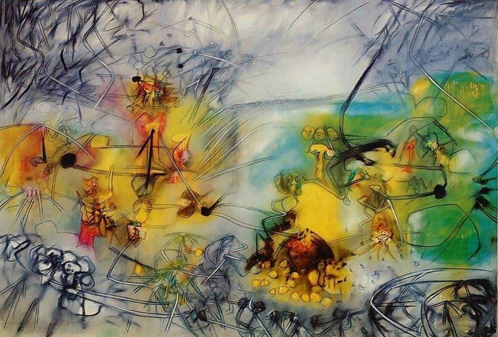 Matta-El-nacimiento-de-América-1952-óleo-sobre-tela-208-x-296-cm.-Colección-MAC-Universidad-de-Chile-Santiago.-Cortesía-MAC