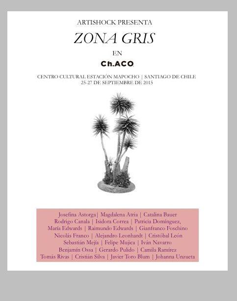 """ARTISHOCK PRESENTA """"ZONA GRIS"""" EN FERIA CH.ACO 2015"""