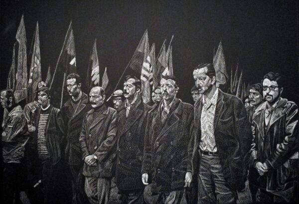 """Vista de la exposición """"Revólver"""", de Javier Rodríguez, en el MSSA, Santiago de Chile, 2016. Cortesía del artista"""