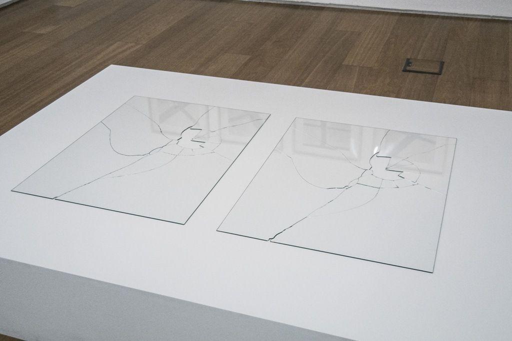 Jorge Macchi, Vidas paralelas, 1998, vidrio, 80 x 130 cm (copia de exhibición). Colección Patricia Phelps de Cisneros, Nueva York. Foto: Mariella Sola / Artishock