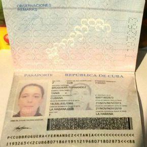 CUBA DEVUELVE PASAPORTE A TANIA BRUGUERA