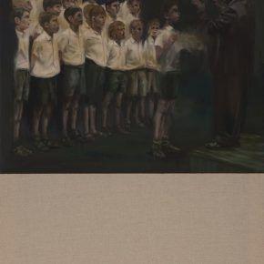 Mariana Najmanovich, The Choir, 2015, óleo sobre tela, 100 x 70 cm. Cortesía: Sobering Galerie