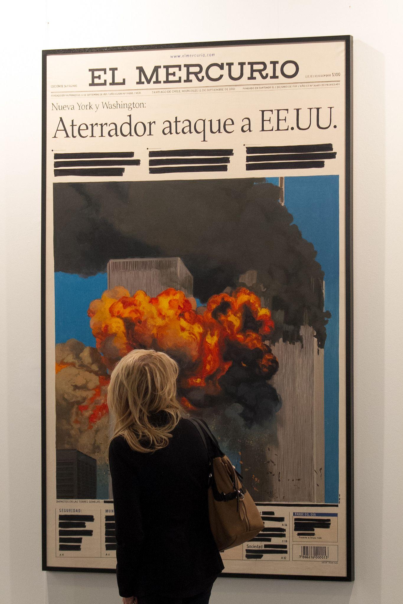 Voluspa Jarpa, De la serie Desclasificados, 2003, óleo sobre tela. Cortesía: galería Isabel Aninat. Foto: arteBA Fundación