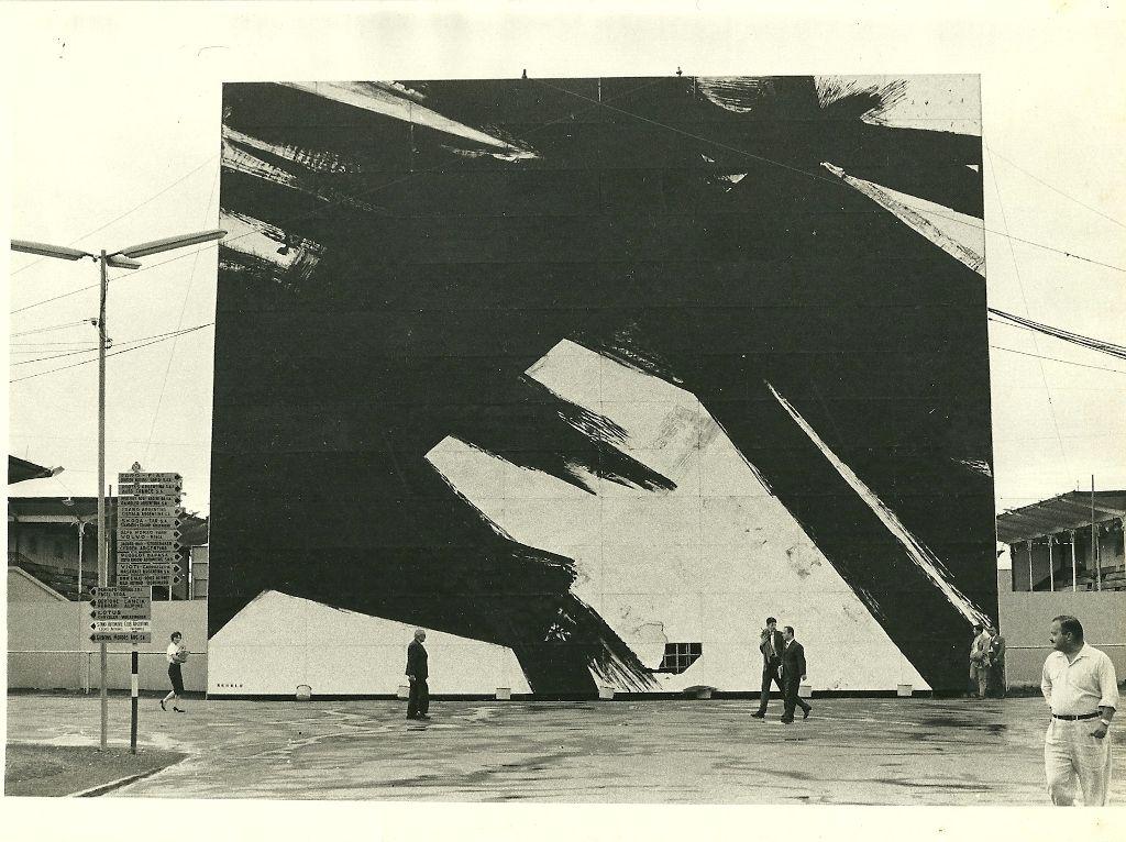 Kenneth Kemble, mural para el Salón Internacional del Automóvil, 1960. Cortesía: MAMBA