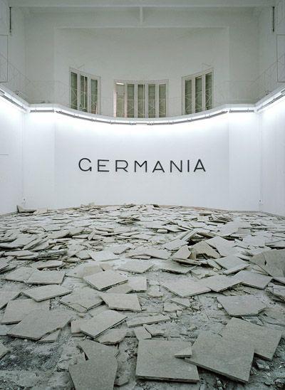 "Hans Haacke, ""Germania"", Interieur of German Pavilion, Biennale di Venezia 1993"