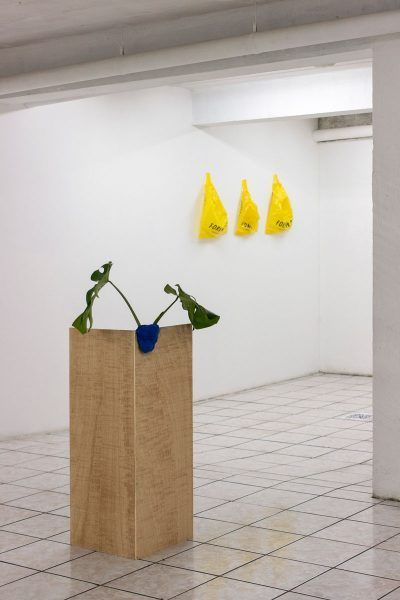 Exposición en S1. Obras de Maya Saravia y Daniel Escamilla. Foto: Diego Sagastume