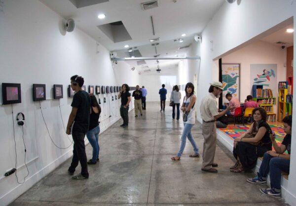 Inauguración de Nómada, en EAT, Tegucigalpa. Crédito: Josué Osorio