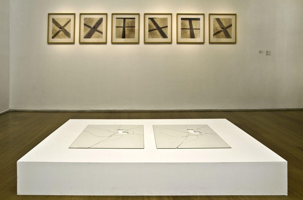 Jorge Macchi, Vidas paralelas, 1998, vidrio, 80 x 130 cm (copia de exhibición). Colección Patricia Phelps de Cisneros, Nueva York. Foto: Nicolás Beraza / MALBA