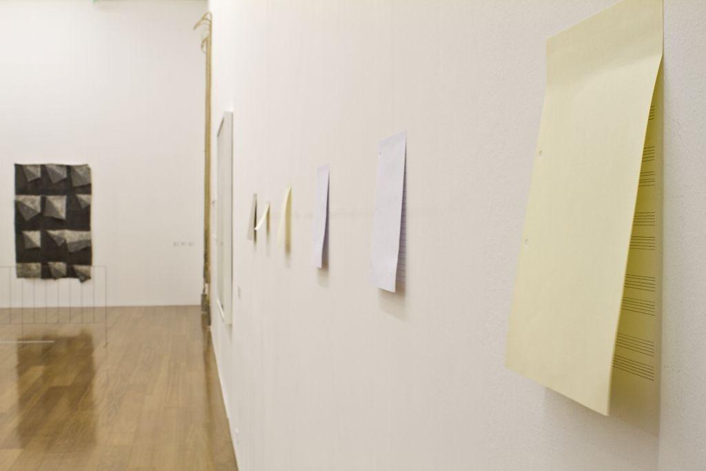 Jorge Macchi, Shy, 2008, papel. Medidas variables. Cortesía: Galerie Peter Kilchman, Zürich. Foto: Nicolás Beraza / MALBA