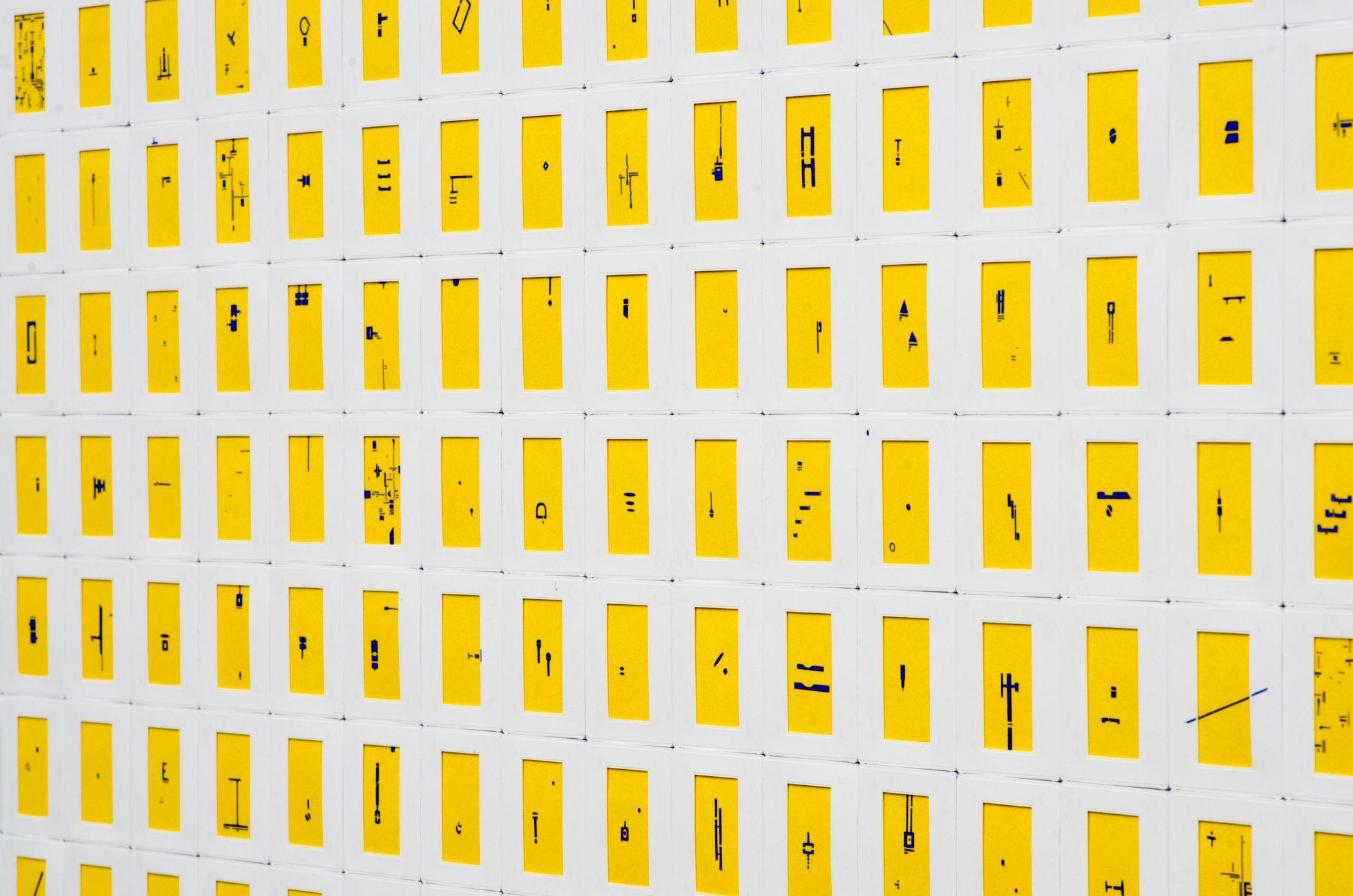 Marco Maggi, Optimismo Radical (amarillo) (detalle), 2016. Foto: Walter Otto. Cortesía: Espacio Monitor