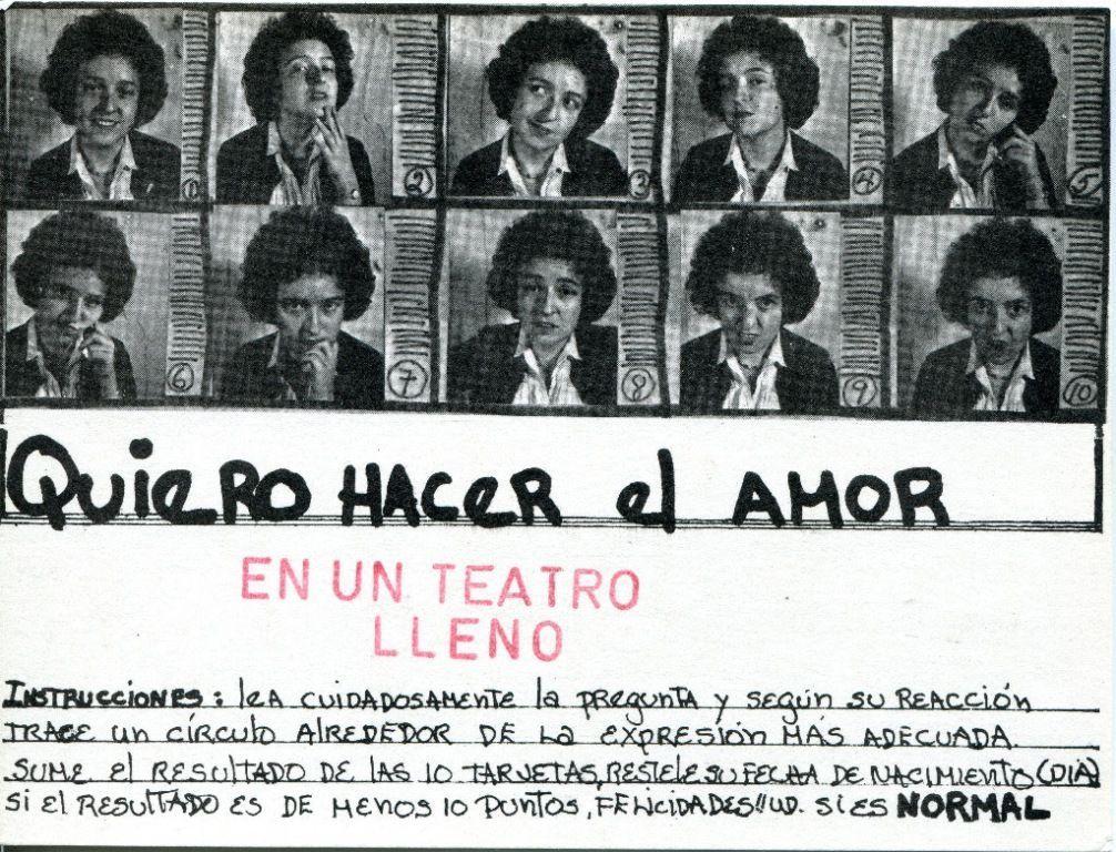 Mónica Mayer, Lo Normal, 1978, impresión intervenida con sellos. 10,5 x 15 cm. 10 postales (detalle). Cortesía: Henrique Faría
