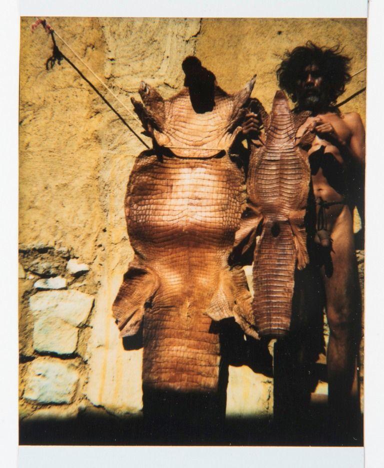 Francisco Toledo, Autorretrato 16, 1995, Polaroid manipulada, 8,18 x 7,62 cm. Cortesía: Galería Juan Martín-Galería Quetzalli | Ciudad de México - Oaxaca