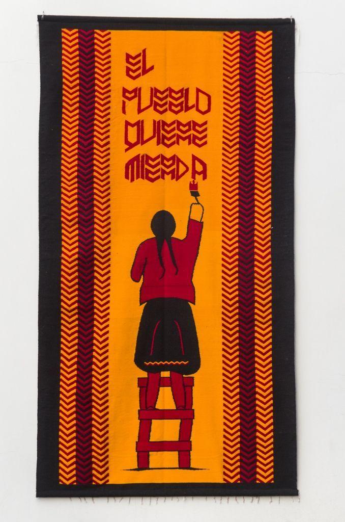 Oswaldo Terreros Herrera (Guayaquil, 1983), Sin título (Indígena), 2010, lana,185 x 300 cm