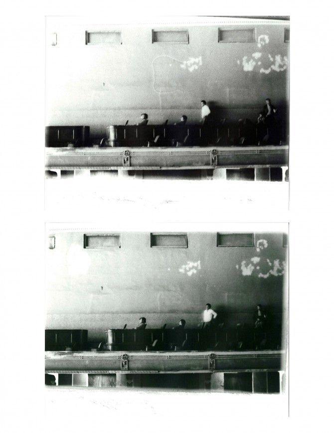 Miguel Ángel Rojas, Camisa Blanca, 1979, Impresión sobre gelatina de plata (Díptico: 20,5 x 52 cm PA). Cortesía: HFFA