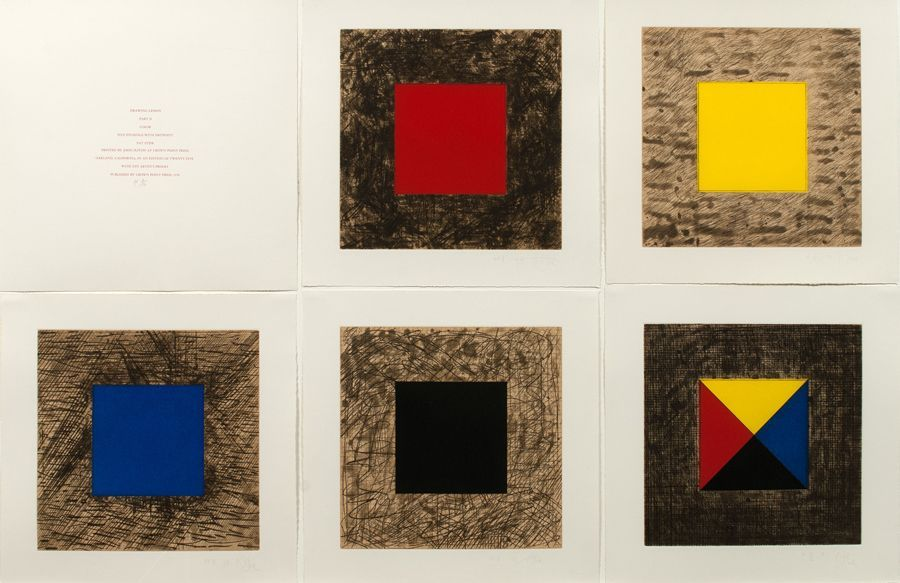 Pat Steir, Drawing Lesson Part 2, Color, 1978. Colección LeWitt, Chester, CT. Cortesía: Crown Point Press y Cheim & Read, New York