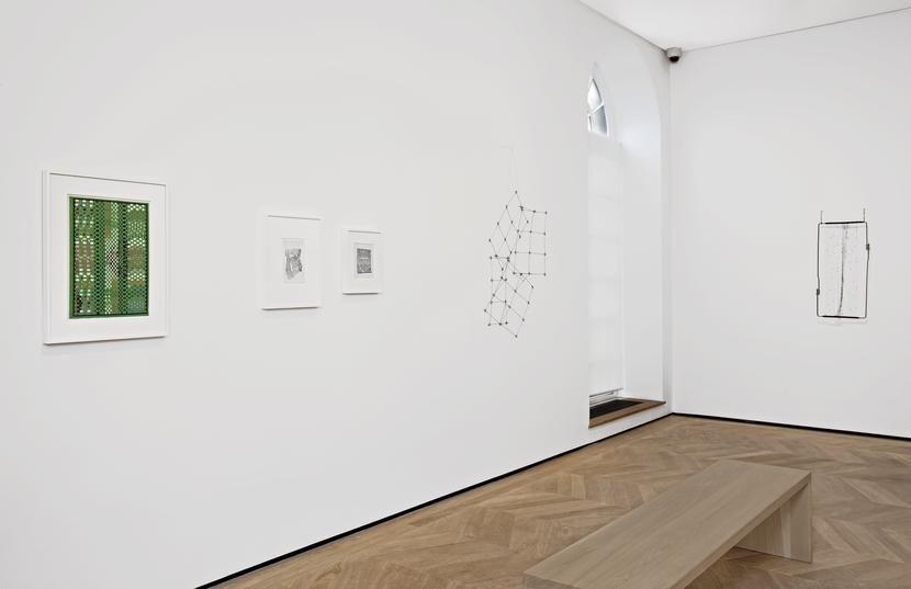 Vista de la exposición Gego. Autobiography of a Line, en la galería Dominique Lévy, de Londres, 2016. Cortesía de la galería