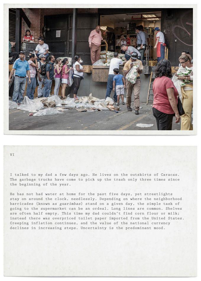 Esperanza Mayobre y Angela Bonadies, Postcards from Venezuela, un proyecto creado para creado para Creative Time Reports. Cortesía de las artistas