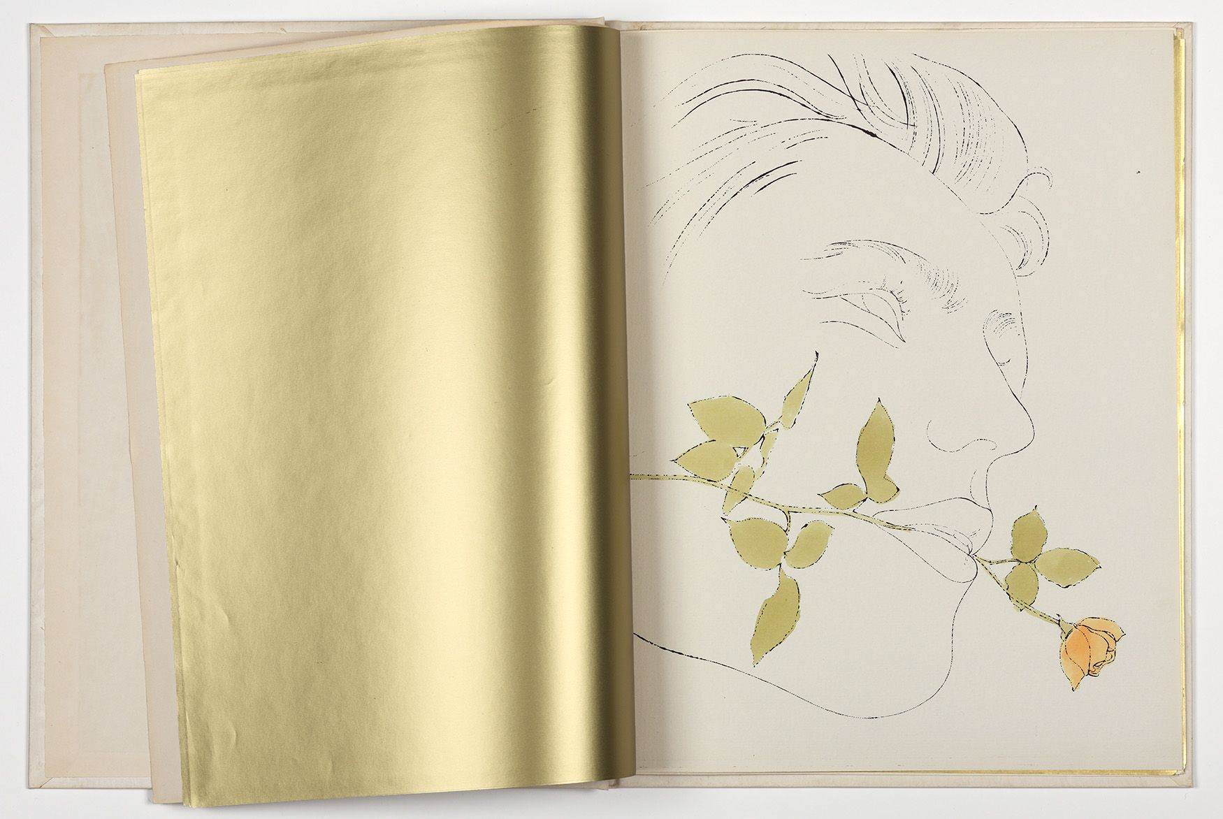 Andy Warhol, A Gold Book, 1957 ©The Andy Warhol Foundation for the Visual Arts, Inc., Cortesía: The Andy Warhol Museum, Pittsburgh