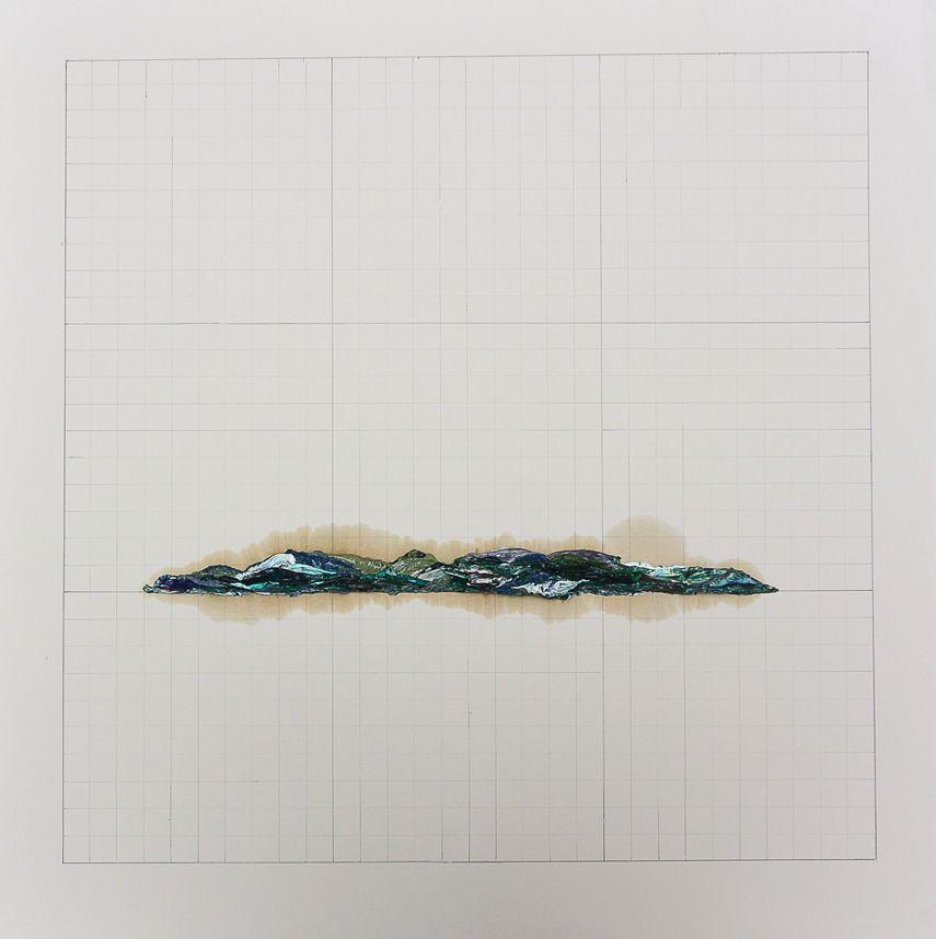 Nicolás Gómez, de la serie Terrarum Descriptio, 2014, óleo y grafito sobre papel. Cortesía del artista