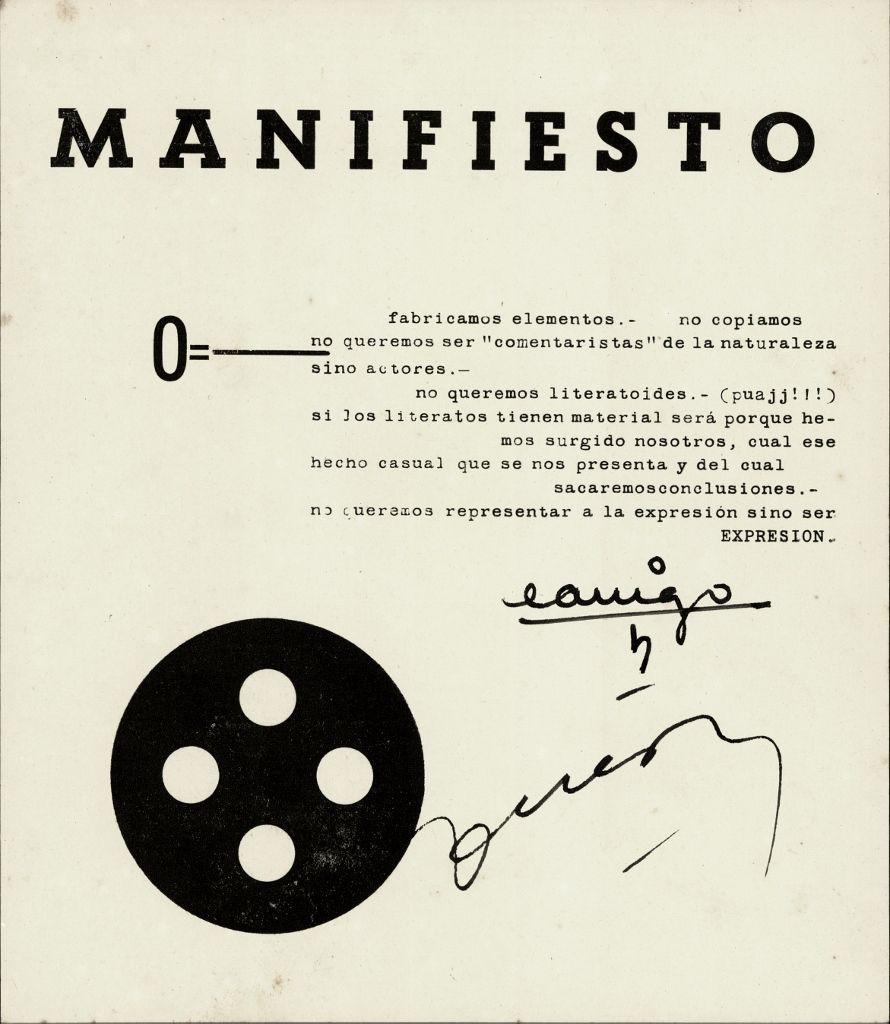 Edgardo Antonio Vigo, Miguel Ángel Guereña, Manifiesto, impresión sobre papel, s/f. En Edgardo Antonio Vigo (Ed.), W.C., n°1, La Plata, 1958. Cortesía: MAMBA