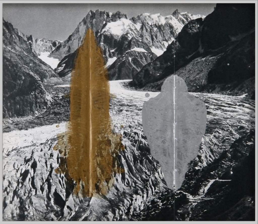 Nicolás Gómez, de la serie Estares, 2012, esmalte sobre impreso. Cortesía del artista