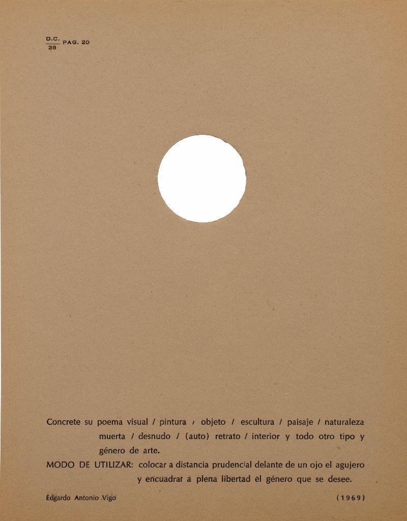 Edgardo Antonio Vigo, Sin título, impresión sobre papel, 1969. En Edgardo Antonio Vigo (Ed.), Diagonal Cero, n°28, La Plata, 1969. Cortesía: MAMBA