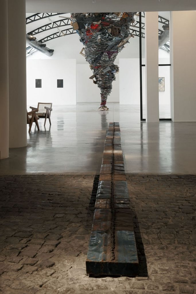 Roberto Diago, Memory Trace, 2015. Vista de la exposición Transhumance, en Bruselas, 2016. Foto cortesía de CAB
