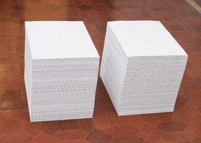 Félix González-Torres, Imprimir en papel, un sinfín de copias. Cortesía de la bienal