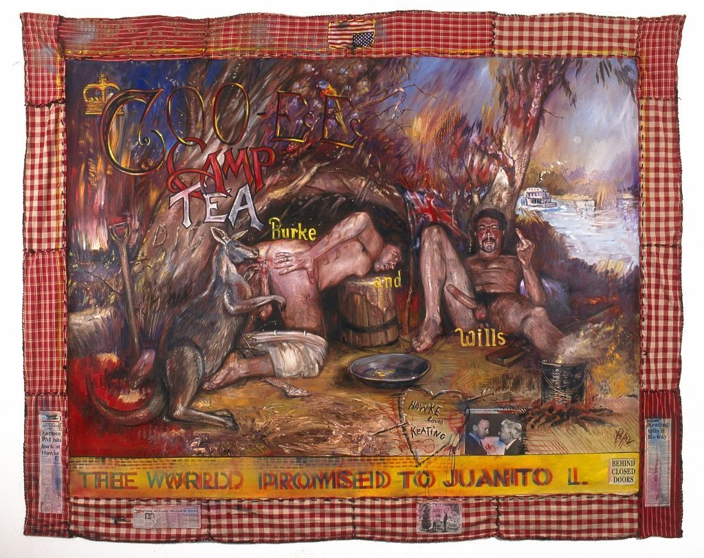 Juan Dávila, The Arse End of the World, 1994 © Juan Dávila. Cortesía: Kalli Rolfe Contemporary Art
