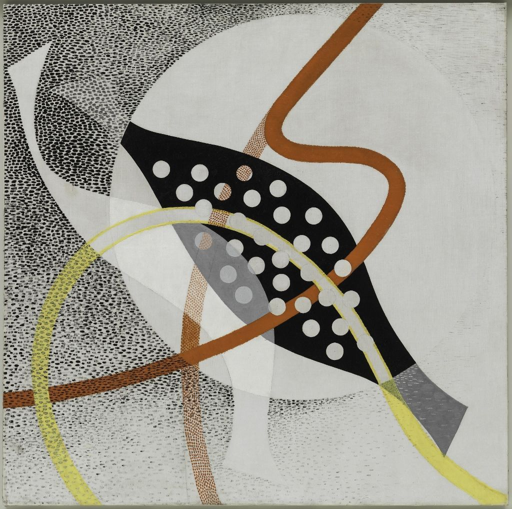 László Moholy-Nagy, CH BEATA I, 1939, óleo y grafito sobre tela, 118.9 × 119.8 cm. Solomon R. Guggenheim Museum, Nueva York, Solomon R. Guggenheim Founding Collection © 2016 Hattula Moholy-Nagy/VG Bild-Kunst, Bonn/Artists Rights Society (ARS), New York