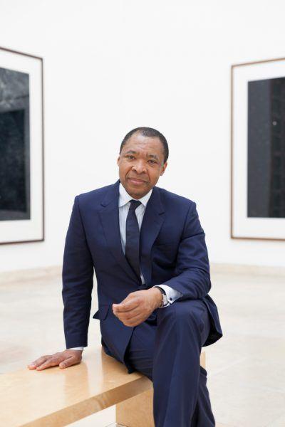 Okwui Enwezor, Direktor des Haus der Kunst, in den Räumlichkeiten des Museums