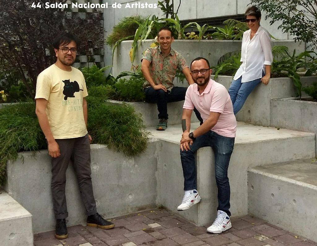 El equipo curatorial de AÚN 44 Salón Nacional de Artistas. Cortesía: 44 SNA