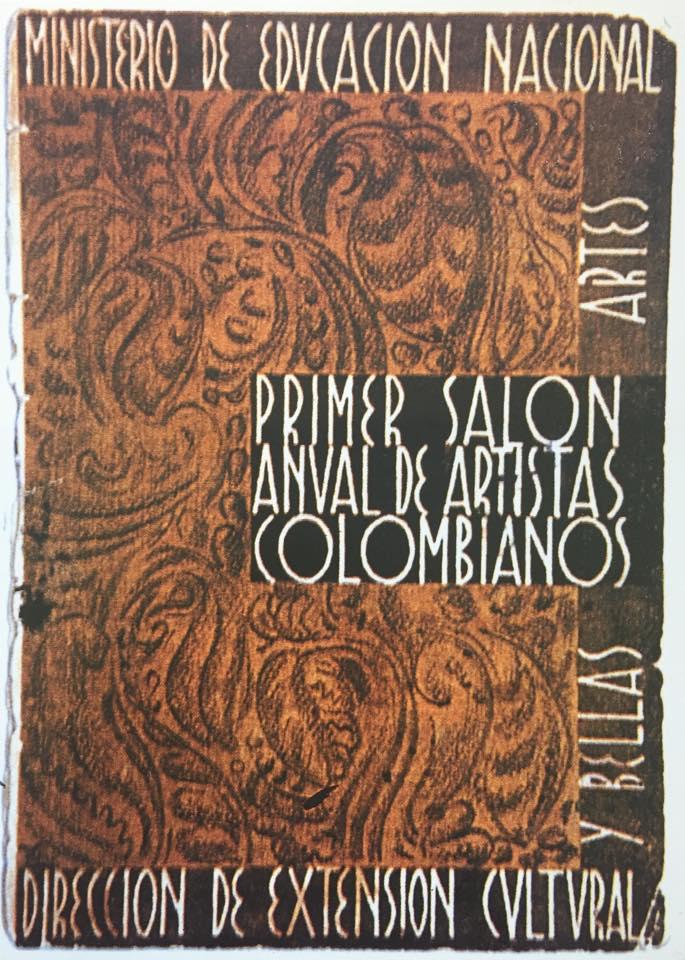 Portada del libro del Primer Salón Anual de Artistas Colombianos, 1940. Cortesía: Ministerio de Cultura de Colombia