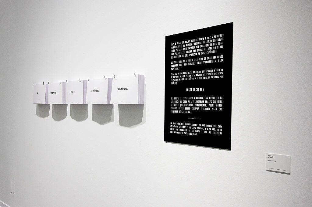 Andrea Canepa. Liber Fulguralis. Como parte de la exhibición: Viaja y no lo escribas. La Casa Encendida, Madrid, 2016. Foto: Dondyk+Riga.