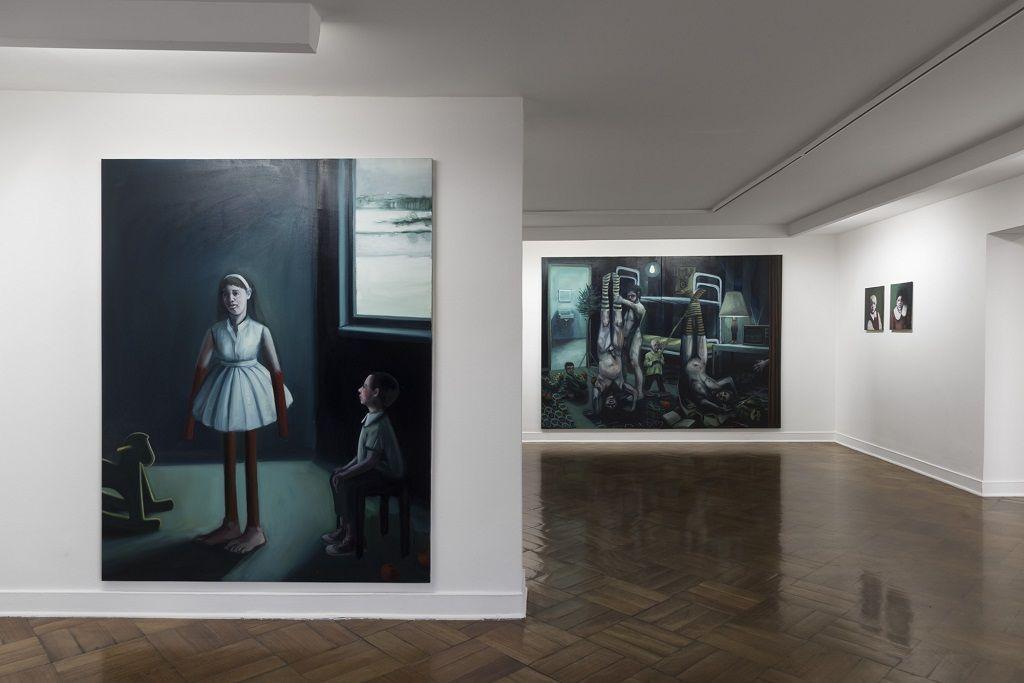Ivana de Vivanco. Kammgarnspinnerei (La hilandería de estambre). Vista de la muestra. D21 Proyectos de Arte, Santiago de Chile, 2016. Foto gentileza de la artista.