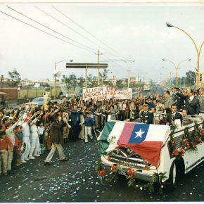 Visita del presidente Allende a México, diciembre, 1972. Cortesía Fundación Salvador Allende.