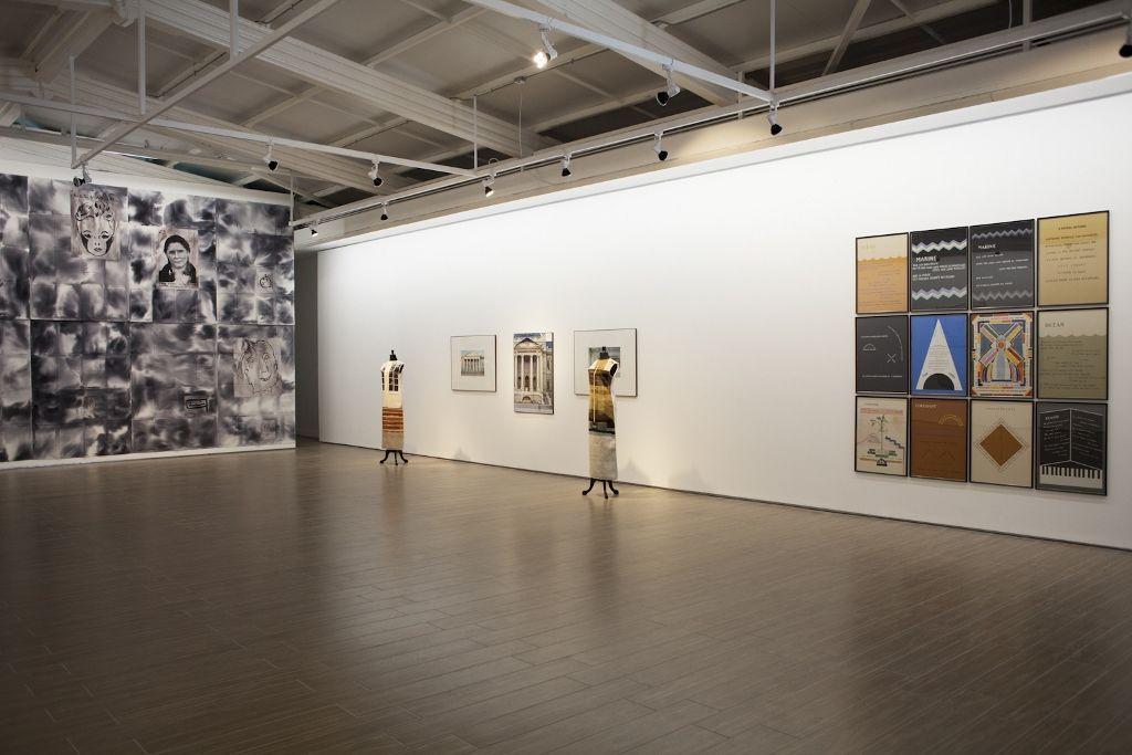 Vista de la exposición Una imagen llamada palabra en el Centro Nacional de Arte Contemporáneo de Cerrillos, Santiago de Chile, 2016. Foto: Natalia Espina / CNCA