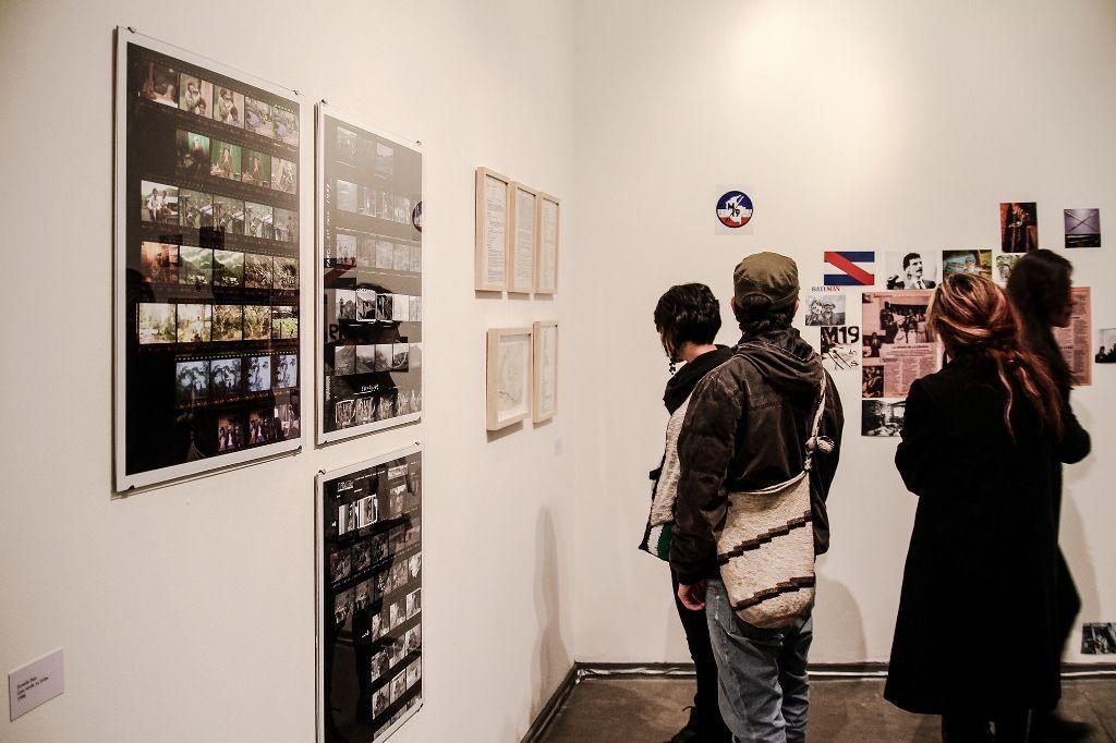Estrategia de respuesta rápida, vista general de la muestra. Galería Desborde, Bogotá, Colombia, 2016.