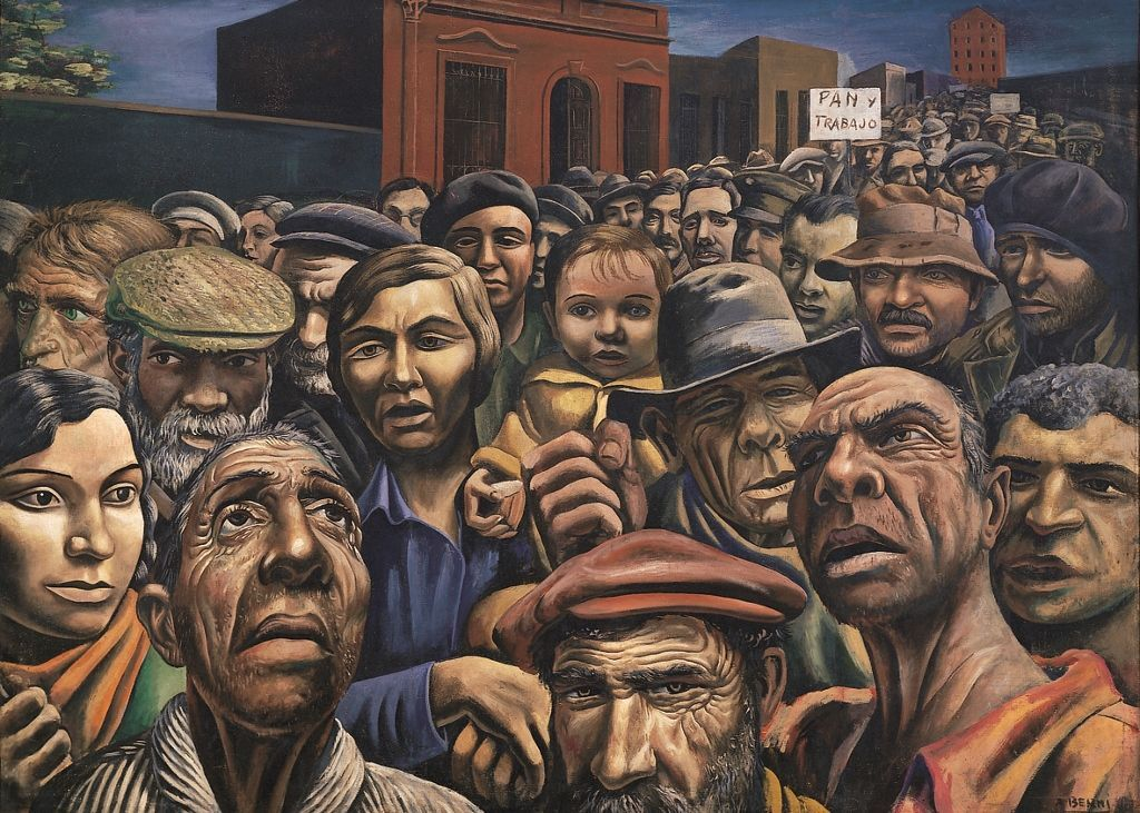 Antonio Berni. Manifestación, 1934. Cortesía: Colección MALBA