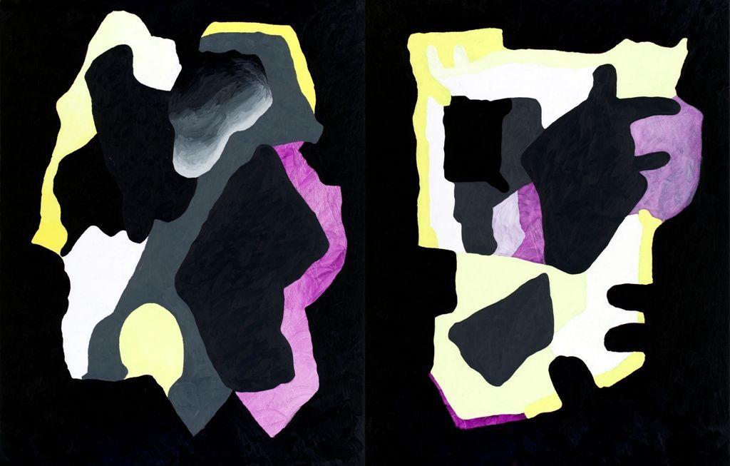 Antonio Malta Campos, Dimensão, 2016. Óleo sobre tela. 230 × 360 cm (díptico). Asistencia de Antonia Baudouin. Colección del artista.