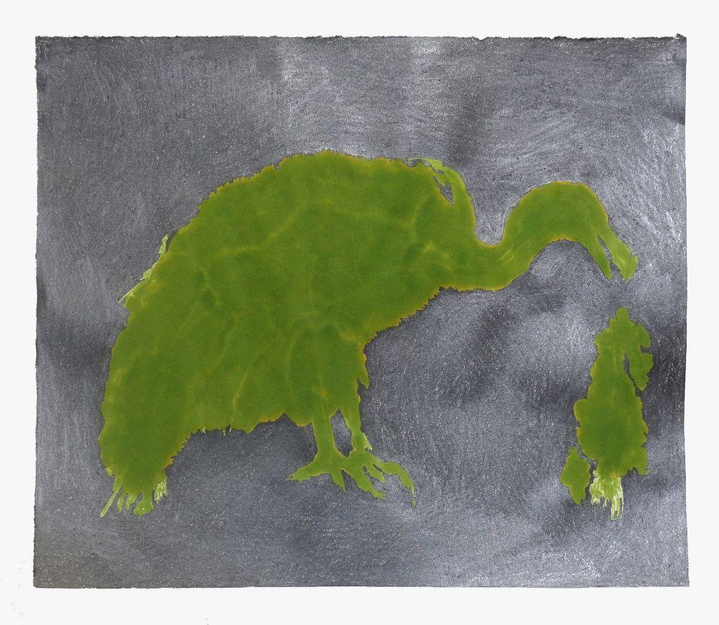 Carmela Gross, Abutre da série Bando (Buitre de la serie Cría), 2016, serie de 78 dibujos, 32,5 x 39 cm. Foto cortesía de la artista y Galeria Vermelho