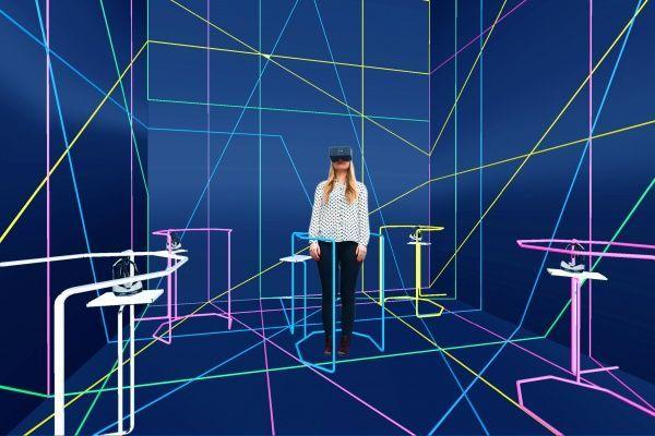 VRPolis, Diving into the Future, propuesta de España para la Bienal de Diseño de Londres, 2016. Diseño de instalación de María Levene. Cortesía de la Bienal