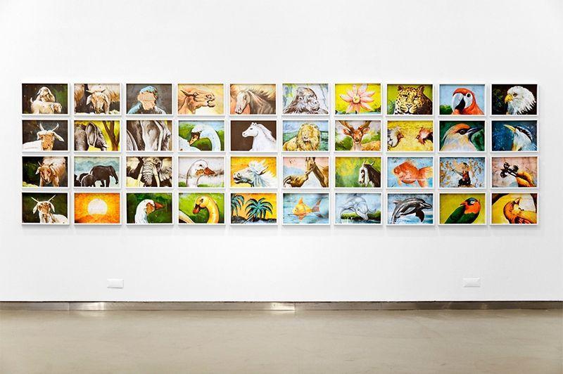 Carlos Motta, Taxonomy of the Wild, 2013. Serie de 40 impresiones de archivo sobre papel satinado Hahnemühle, 135,6 x 508 cm. En mor charpentier