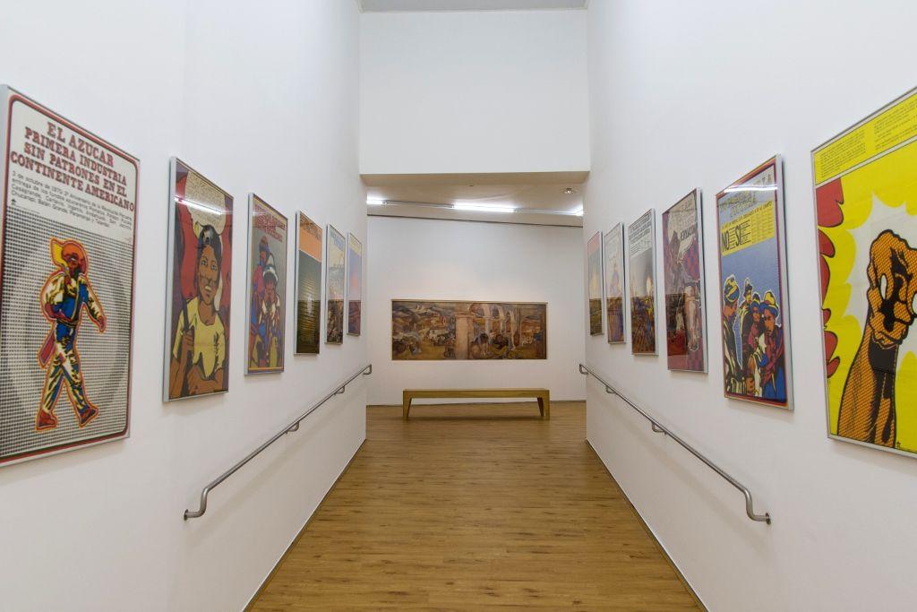 Reforma agraria, 1968/1973, de Jesús Ruiz Durand. Vista de la exposición Verboamérica, MALBA, 2016. Foto: Pablo Jantus